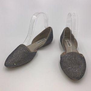 Steve Madden 'Vamp-R' D'Orsay Jeweled Flats • 6